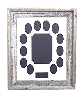 BarnwoodUSA School Years Picture Mat Frame K-12 Single White Collage Mat with 12 Openings