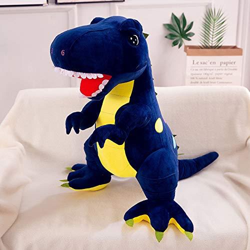 Grande 60-100cm Tyrannosaurus Peluche de Lunares Dinosaurio muñeca decoración de la habitación Regalo de cumpleaños para niños 1 Metro Azul