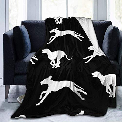 Manta de Microfibra Ultra Suave, Mantas acogedoras con Borde Cosido con patrón de Perro, Alfombra térmica portátil de Felpa para sofá Cama