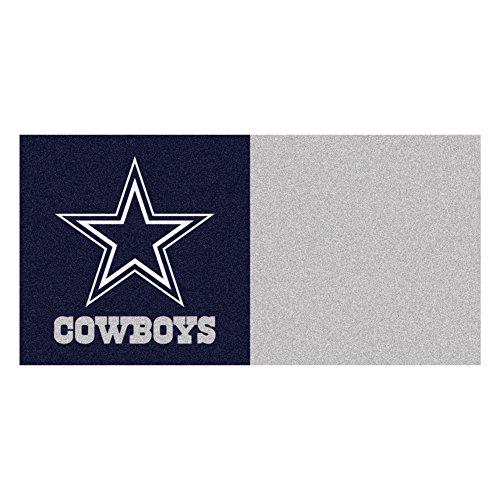 FANMATS NFL Dallas Cowboys Nylon Face Team Carpet Tiles , 18