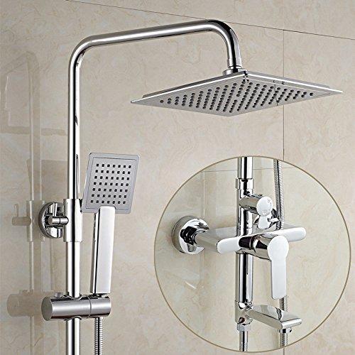 Koperen doucheset, doucheset, douchecabine, wanddouche, douchecabine voor het heffen van regendouche met koud water sproeier J