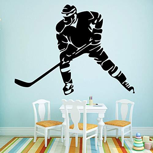 HNXDP Hockey Art Aufkleber Wasserdichte Wandaufkleber Aufkleber Für Kinder Diy Haus Dekoration Zubehör Gold M 30 cm X 39 cm