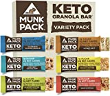 Munk Pack: Keto Granola Bar - Variety Pack - 1g Sugar, 2-3g Net Carbs - 6 Pack - Gluten-Free Keto Snacks - Plant Based Paleo and Keto-Friendly - No Grain, Soy or Added Sugar - Delicious by Munk Pack