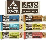 Munk Pack Keto Granola Bar, 1g Sugar, 2g Net Carbs, Keto Snacks, Chewy & Grain Free, Plant Based,...