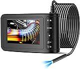 LVYE1 MRMF Endoscopio Industrial Cámara de Inspección 4.3 Pulgadas 1080P Pantalla LCD HD Endoscópica Impermeable IP68 Cámara de Boroscopio de 8 mm Cámara de Serpiente con 6 Luces LED (5 m/16.4 Pies)