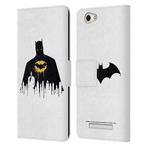 Head Hülle Designs Offizielle Batman DC Comics Alter Ego Stadtbild 2 Dualitaet Leder Brieftaschen Huelle kompatibel mit Wileyfox Spark X