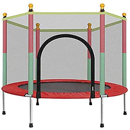 Fiudx Trampolines, 5 FT Kids Trampoline met behuizing Net Jumping Mat Spring Cover Padding Outdoor-Trampoline
