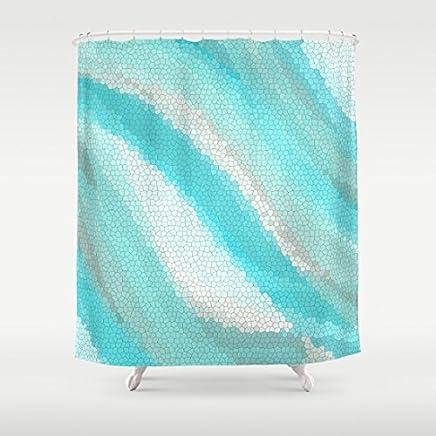 Calypso Cool Mosaic Shower Curtain