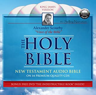 KJV NT Scourby CD with Free Indest Book Holy bible King James Version Audio Bible-Audio Bible on CD-KJV New Testament by Alexander Scourby Digital ... Stories come to life word for word
