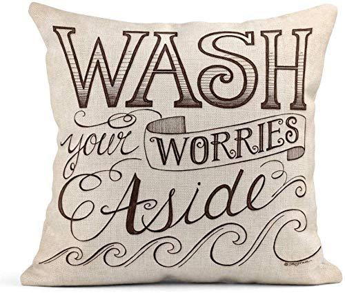 Running-sun Fundas de almohada de poliéster para decoración del hogar, cuadrada, 45,7 x 45,7 cm, funda de almohada decorativa Joy to the World Holidays