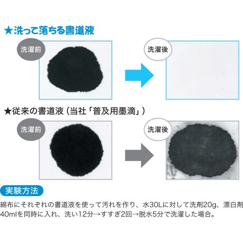 呉竹『洗って落ちる書道液練習用180ml(BA14-18)』