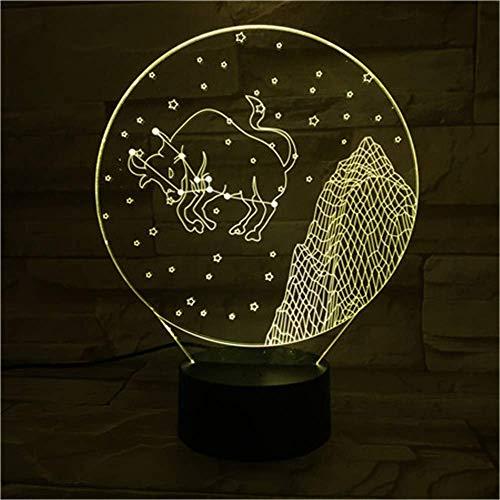 Luz fantasma 3D Noche Lightswestern Signos