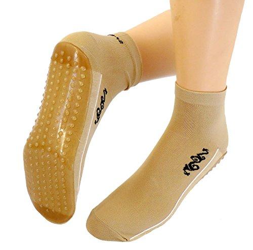 Shimasocks Damen Herren Beach Strand Wattwandern Socken Tattoo, Größe:35/38, Farben alle:beige