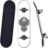Skateboards Professional 31 * 8 Pulgadas Completo Anime Kids Board Adults Doble Kick Deck 7 Capa Maple Designs Monopatín-Pintada
