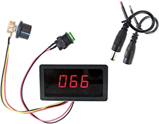 CCM5D speed controller LED digital display PWM DC motor speed controller 6V12V24V30V stepless speed control switch controller