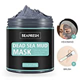 Natural Dead Sea Mud Mask - Headband & Brush included for <span class='highlight'>Face</span> and Body Cleansing Relaxing Detox Treatment Reduce Pores Purifying <span class='highlight'>Face</span> Mask for Acne Blackheads Oily Skin