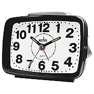 Acctim Titan 2 Alarm Clock with Sweeping Hand Snooze & Light | Black