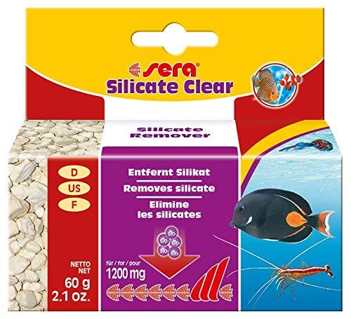 Sera Silicate Clear 500 g – Eliminación Duradera de silicato de silicato del nutriente de Algas de sílice para Agua Dulce y Agua de mar (Material de Filtro en Calidad de Laboratorio).