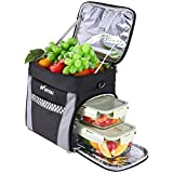 Cooler Lunch Bag Insulated Lunch Box Leakproof Reusable 15L Women Men Portable Lunch Box Organizer Box Organizer Ice Chest Bag with Adjustable Shoulder Strap for Picnic Beach Travel Hiking Camping