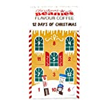 Beanies - Caja de café con sabor a café instantáneo, calendario de 12 días de Navidad