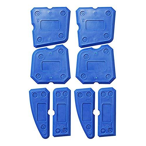Reparación de Herramientas de Costura de Pared 8 Juegos de raspador de plástico de Vidrio raspador de plástico portátil de Moda Profesional - Azul