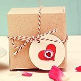500 g Rocks Herz-Bonbons – süße Tisch-Deko zu Hochzeit Taufe Valentinstag Muttertag Kommunion – Süßigkeiten Großpackung zum Naschen – Rot - 6
