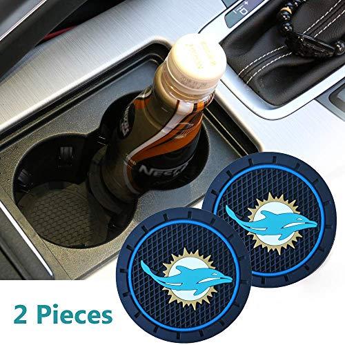 "2.75"" Cup Holder Coasters for Mercedes-Benz, Black Silicone Anti Slip Cup Mat Niversal Car Interior Accessories Fits Mercedes-Benz A/G, C/CLA/CLS/S/SL, E/GLS/SLC, GLA/GLC/GLE/Metris Class - 2 Pcs"