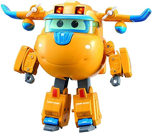 Super Wings EU740432 Deluxe Transforming Supercharged Donnie, Gelb