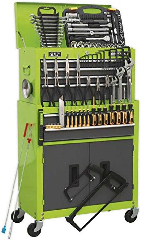 SEALEY Werkzeugkiste ap2200combohv & Werkzeugschrank Kombination 6 6 6 Schublade mit Kugellager Folien – Hi-Vis Grün Grau & 128pc Tool Kit B072HCSC55 | Abrechnungspreis  ead4d7