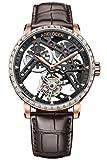 Agelocer メンズ 腕時計 トップブランド 手動巻き トゥールビヨン 機械式腕時計 男性的 ファッション ラグジュアリー 腕時計 (ACL:9001F2)