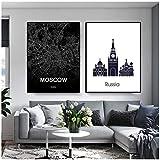 KBIASD Russland Moskau Stadtplan Poster Reisedruck