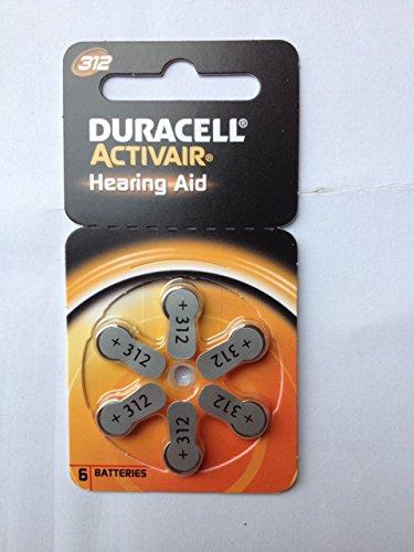 Hörgerätebatterien Duracell Activair 312, 1 Päckchen (6 Batterien)