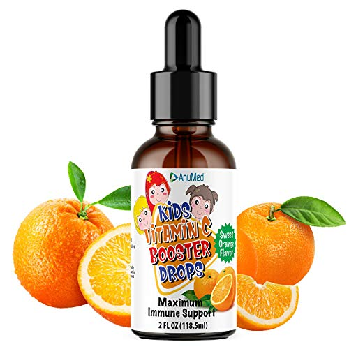 Anumed Vitamin C Liquid for Kids | Great Tasting | Maximum Immune System Booster | Best Essential Nutrients for Children | Teens | High Antioxidants | 100% Organic Ingredients | Non-GMO | (2oz)