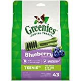 GREENIES TEENIE Natural Dog Dental Care Chews Oral Health Dog Treats Blueberry Flavor, 12 oz. Pack (43 Treats)