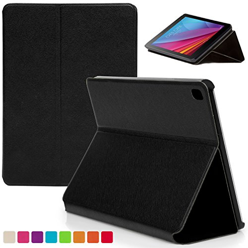 Forefront Cases® Huawei MediaPad T1 7.0 Plus / T1 7.0 / T2 7.0 Hülle Schutzhülle Tasche Bumper Folio Smart Case Cover Stand - Ultra Dünn mit R&um-Geräteschutz (SCHWARZ)