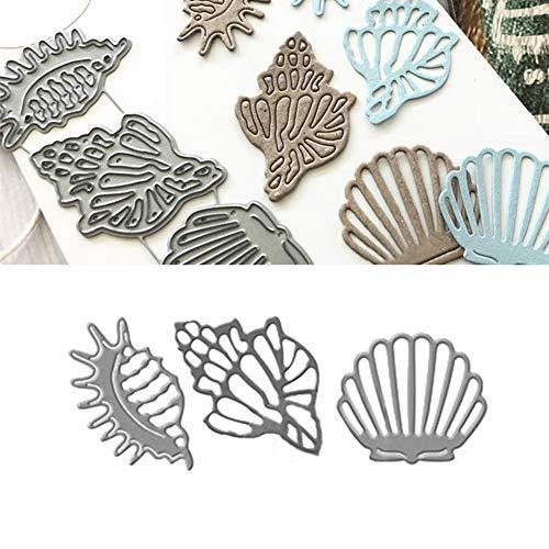 Stanzschablonen Muschel Metall Kohlenstoffstahl Schneiden Schablonen DIY Sammelalbum Set Scrapbooking Papier Karten