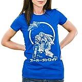 A.N.T. Samus Return T-Shirt da Donna Metroid Nerd Gamer NES Snes Geek, Colore:Blu;Dimensione:L