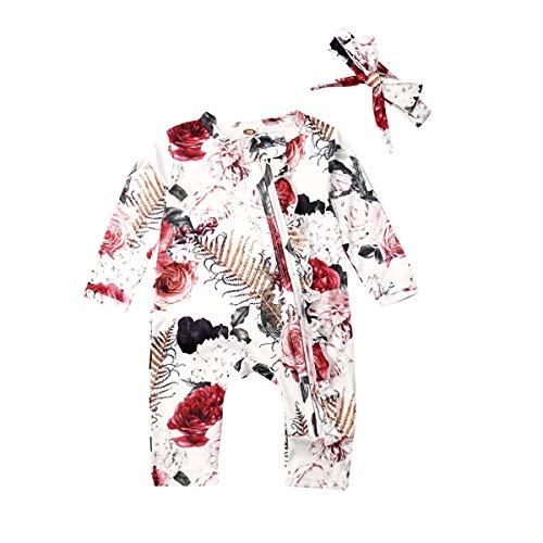 Wide.ling Pasgeboren Baby Meisje Katoen Kleding Bloemen Romper Bodysuit Jumpsuit Outfit