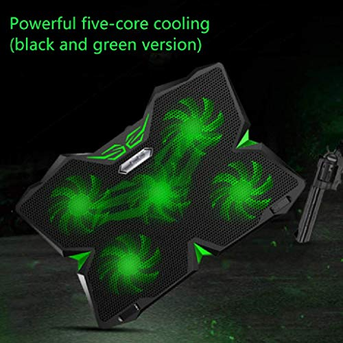 Haohaojia Laptop Cooler 12-17 Inches Gaming Laptop Cooler Cooling Pad   5 Quiet Fans   1400RPM Strong Wind Designed For Gamers And Office Cooling Pad Stand (Color : Camouflage)