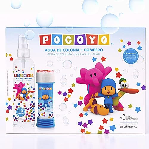 Pocoyó - Estuche de Agua de Colonia Fresca para Bebés y Niños 150ml, con un Pompero de Regalo