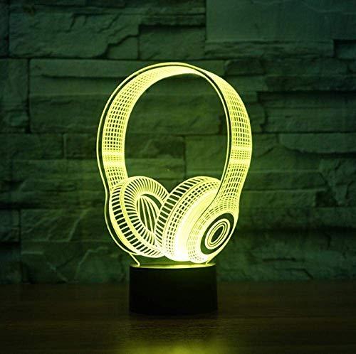 Kinderen Verjaardag Beste Gift 3D Dj Koptelefoon Vorm Nachtlampje LED Tafellamp Slaapkamer Decoratie Muziek Kleurrijke Koptelefoon Slaap Verlichting