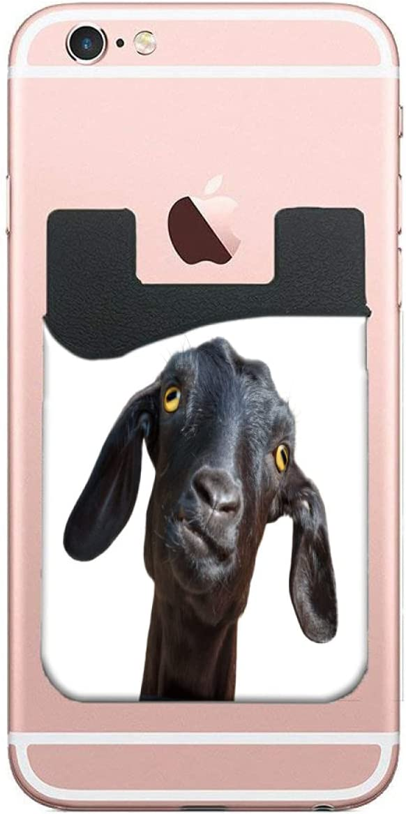 5% OFF ZXZNC Card ! Super beauty product restock quality top! Holder for Back of Head Goat Black Funny Silly Phone