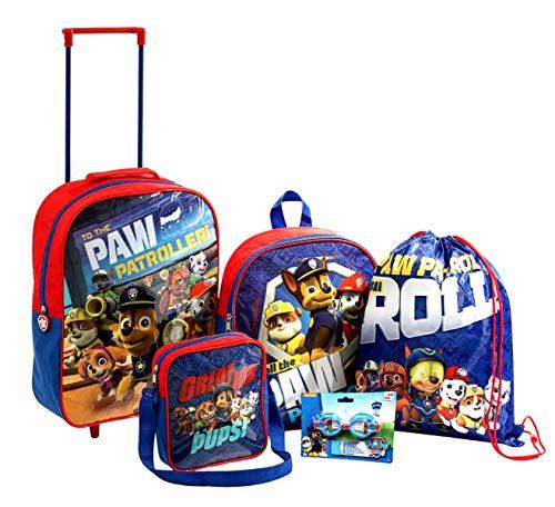 Paw Patrol - Juego de equipaje (5 piezas)