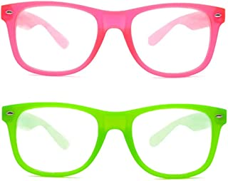 EmazingLights Diffraction Glasses Neon 2-Pack (Green, One Size)