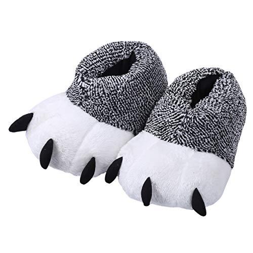 TININNA Unisex Weichem Plüsch Pfote Pantoffel Hausschuhe Cosplay Kostüm Tier Pfote Klaue Schuhe Hausschuhe Slipper Winter Schlappen für Kinder Erwachsene EINWEG Verpackung