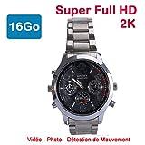 Cyber Express Electronics–Reloj Mini cámara espía 16GB 2K Super Full HD 2304x 1296P detección de...