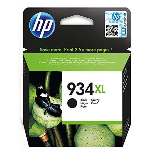 HP C2P23AE 934XL Cartucho de Tinta Original de alto rendimiento, 1 unidad, negro