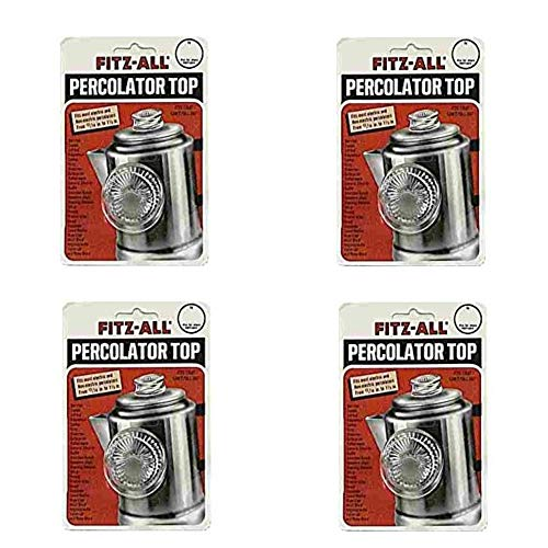 Tops 55700 Fitz-All Replacement Percolator Top, Glass, 13/16-Inch to 1-1/2 in. (Pack of 4)
