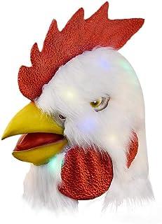Makluce Máscara De Peluche De Gallo, Juego De rol De La Fiesta De La Máscara De La Cabeza De Big Cock para El Partido Temático De La Mascarada De Halloween approving
