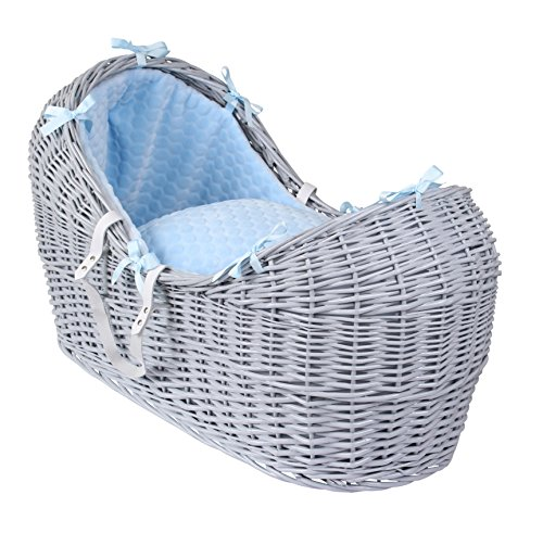 Best Deals! Clair de Lune Marshmallow Grey Wicker Noah Pod, Blue